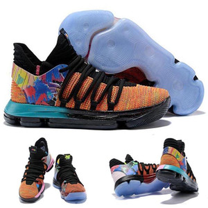 New Arrival What the KD X 10s Ice Blue Pink Green Sports Basketball Shoes 10s Kevin Durant 10 EP Athletic Sneakers Shoes