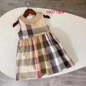 Crianças roupas desenhador meninas moda vestidos verão bebê meninas xadrez listrado recém-nascido meninas verão vestido crianças princesa bebê vestido