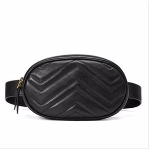 Bolso Mujeres Cintura de cuero genuino Marmont Bolso Baja de alta calidad Diseñador de marca Famoso Nueva Moda
