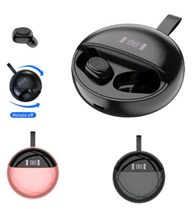 TWS Bluetooth Earphone Touch Rotating Charging Compartment LED Power Display Mini Sports Wireless Headset Earbus Noise Reduction HD Call
