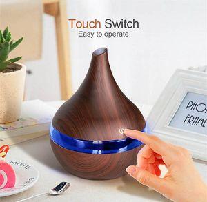 Лучшие ночные огни 300 мл USB электрический аромат рождественские подарок древесина ультразвуковой воздушный увлажнитель для дома