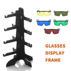 4 Pair Sunglasses Glasses Fashion Acrylic Show Rack Counter Eyeglasses Display Stand Holder Transparent Hot Organizer