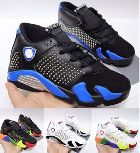 14 Kids sneaker XIV Shoes Black french blue gym red White chlidrens 14s Basketball Shoes Boys Girls sports sneaker