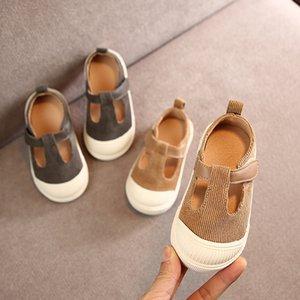 cáqui criança Claladoudou meninos 11.5-15.5cm cinza Marca meninas tênis de pano pequenos menina miúdos cinta sapatos casuais