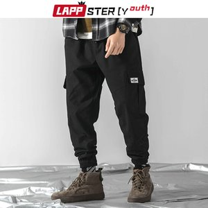 LAPPSTER-Youth Men Camo Streetwear Joggers Pants Mens Overalls Hip Hop Cargo Pants Baggy Camouflage Trousers Sweatpants 201110