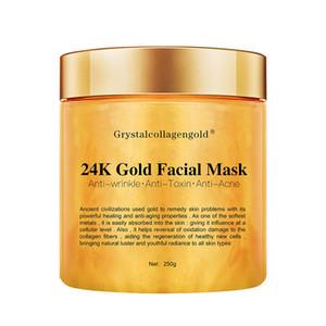 Grystal Collagen 골드 여성의 얼굴 얼굴 마스크 24K 골드 콜라겐 껍질 얼굴 마스크 얼굴 피부 모이스춰 라이징 퍼밍