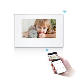 smart 7 inch IP WIFI video intercom for home Motion Detection Monitor Doorbell 720P AHD 32G Door Phone White Black