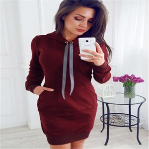 Women Tracksuits Hoodies Tie Collar Hooded Sweatshirts Casual Hoody Jackets Female Long Dress Loose Pullovers streetwear
