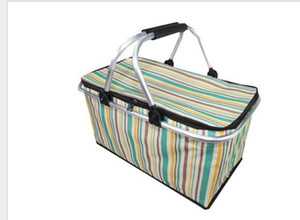 Outdoor Picnic Meal Bag Folding Oxford Cloth Ice Pack Family Outdoor Picnic Food Storage Bag Takeaway Containerju0428