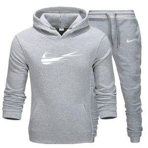 costume Casual hommes de concepteur de vêtements de sport 2 pièces d'automne sweat à capuche et d'hiver pull hommes + pantalon dames solide colo de haute qualité