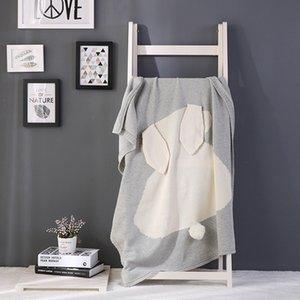 11 tipos de cores ouvidos nova explosão de coelho da manta de algodão de malha de cama cobertor lance sofá / mantas ar infantil cobertor Y201001