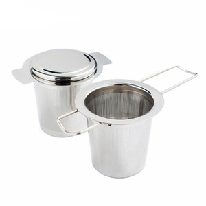 304 Stainless Steel Silver Tea Strainer Folding Foldable Tea Infuser Basket For Teapot Cup Teaware EWD2554