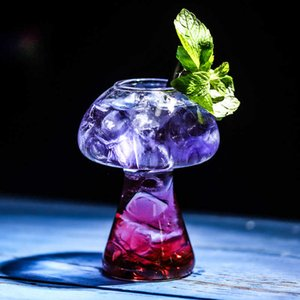 Mushroom Cocktail Glass Molecular Gastronomy Bar Rectification Bartender Special Beer Wine Glasses Goblet Cooler Cup Tipsy Vidro