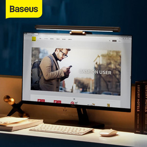 Baseus Led Desk Lamp Adjustable Reading Screen Hanging Light Computer Eye Protection Lamp USB Rechargeable Light for Office Home