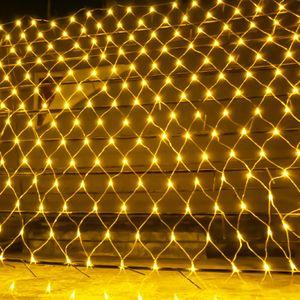 Luz férias Wedding Party Luz Fada 2x2m 3x2m 6x4m LED Net Fada malha Luz Cordas Garland Cortina de Natal
