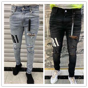Luxurys Designer Mens Jeans Mark Designer Slim-jambe Jeans Patch Vintage Trou Fashion Mens Jeans Biker Causal Hip Hop Denim Pantalon Hot Hop Denim Hot Pants 29-40