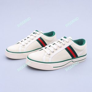 Gucci Lo más nuevos productos en los estantes señoras de la manera zapatos casuales zapatillas de tela de algodón transpirable zapatillas de deporte de moda de costura del bajo-top