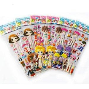 Мультфильм одеваются наклейки 3D наклейки Мода марка Дети Дети Девочки Мальчики Пвх наклейки пузыря игрушки Gyh sqcqIU ABC2007