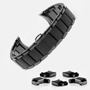 orologio di ceramica della fascia in forma per AR1451 AR1452 Watch Band Strap uomo Orologi da polso marca cinturino Samsung 22 millimetri 24 millimetri