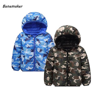 Benemaker Winter Camouflage Jacket For Girl Boy Double-side Coat Children Ropa De Niño Kid Clothes Baby Clothing Outerwear JH077 0930