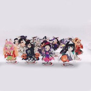Keychain Man Key Chain Demon Slayer Women Key Ring Chain for Pants Pendant Cute Kids Anime Holder Acrylic Jewellery Brelok
