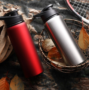 700ML Portable Stainless Steel Sports Water Bottle Direct Drinking Cycling Kettle Travel Outdoor Drinking Tool WB2909