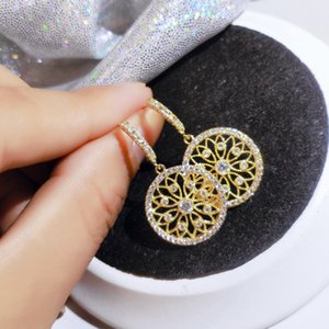 Newest Fashion Round Gold Copper Earrings Jewelry Women