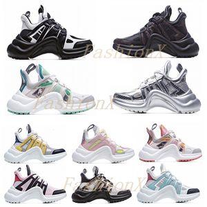 Moda Casual Dad Shoes Block Arclight Genuine Leather Sneakers Mesh Black Breas Traspirante Arco Alto Sole Piattaforma Stylis 35-40 1 #