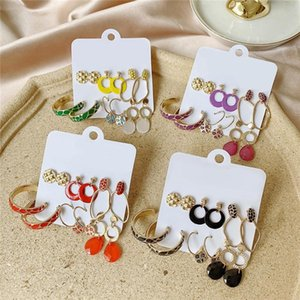 Women's Earrings Set Colorful Enamel Earrings For Women Vintage Boho Tassel Acrylic Earring Fashion Jewelry Geometric Earings