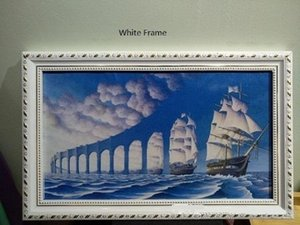 Framed &Unframe ROB GONSALVES - SUN SETS SAIL Amazing Seascape SAIL Art High Quality Handmade Oil Painting On Canvas Multi Size Options Sc39
