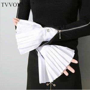 TVVOVVIN Summer Autumn Black New Cufflinks Women's White Gloves Stock Spot Korean Tide Woman Female Q326 201020