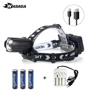 Portable XHP90.2 Led Headlamp High Power Head Torch Zoomable USB Rechargeable 18650 Battery Hiking Fishing Headlight