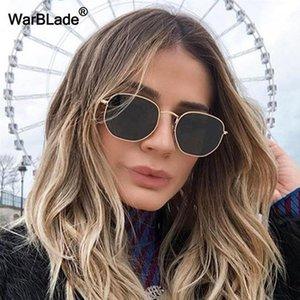 Warblade New Classic metallo occhiali da sole di disegno delle donne Occhiali da sole vintage di guida femminile Eyewear UV400