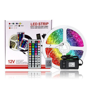 Led Strip Lights Waterproof 16.4ft 5m Flexible 69 Color Changing RGB SMD 300leds For Video Shooting Photographic Lighting