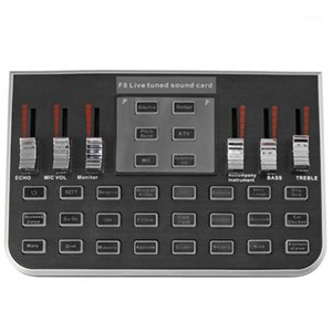 F8 4 Modees Studio O Mixer Microphone Webcast Entertainment Streamer Live Sound Card for Phone Computer1