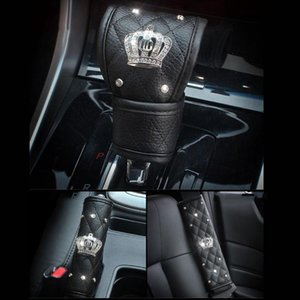 Universal Car Safety Seat Belt Cover Shoulder Pad Shift Knob Padding Suit Hand Brake Lever Cover Auto Styling Accessories