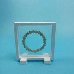 Pendiente * 108 Pantalla elástica de la joyería 108 Gems flotantes Caja clara PET W8587 Ring * 18mm Suspension Packaging Box Membrane EWTJW