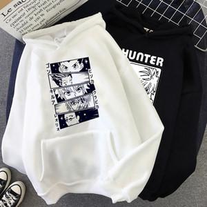 Hunter X Hunter Хисока Забавный мультфильм японского аниме Толстовки Мужчины Graphic Прохладный Крупногабаритные Теплый Толстовка Hip Hop Повседневный Толстовка Мужской X1022