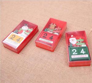 Takvimler 3D Noel Ahşap Takvim Sevimli Santa Geyik Kardan Adam Baskı Takvim Çocuk Masaüstü Süsler Noel Süslemeleri HWC3429