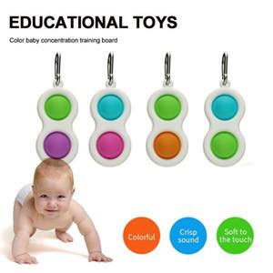Bebê Fidget Simples Dimple Sensory Brinquedos Silicone Lançando Cérebro Teasers Best Presentes Brinquedo Educativo para Crianças e Adultos