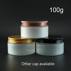 100g Kunststoff Matte Jar leere kosmetische Lotion Hautpflegecreme Frostflasche 100ml Honig Verpackungsbehälter Freies Verschiffen