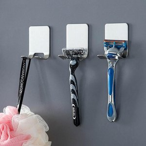 Wall Mounted Shaver Holder Men Shaving Shaver Shelf 304 Stainless Steel Razor Holder Shaving Razor Rack Bathroom Viscose Razor Hook GWC5316