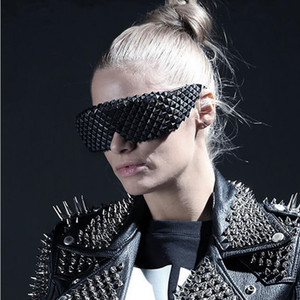 Vazrobe Steampunk Sunglasses Men Women Visible Glasses Spikes Goggles Punk Shows Party Hippy Hip Hop
