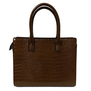 Deep Brown Fashion Alligator Leather PU Clutch Bags Dress Business Handbag Womens High Quality Hand Bags