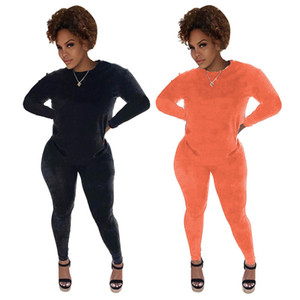 women tracksuit long sleeve pantsuit outfits shirt pants 2 piece set skinny shirt tights sport suit pullover pants hot selling klw0248