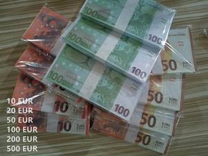 Banknote en gros NightClub Bar Atmosphère Prop EUR Money Faux Billet 10/20/12/100/200/500 EUR FAIS MODI MODIORE DE L'ARGENT LIGNE Jouer de l'argent