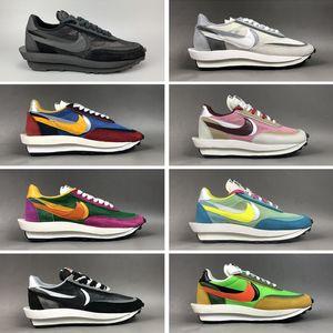 Famoso Sacai x mens LVD Waffle Daybreak sapatilhas das mulheres Casual moda Running Shoes clássico sapatos de corrida curta caminhada