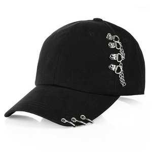 Fashion Hat Cap Women Men Adjustable Baseball Snapback Golf Ball Sport Casual Sun Cap Trucker Hat WIth Rings Black Pink White1