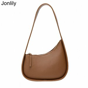 Jonlily Women Genuine Leather Shoulder Bag Female Elegant Handbag Totes Fashion City Daybag Teens Purse -KG487