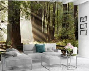 Fond d'écran 3D moderne Home Improvement 3d Fond d'écran Belle Forest Park HD Digital Printing Résistant à l'humidité Fond d'écran